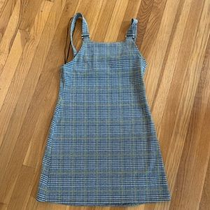 Primark Grey And Yellow Plaid Dress Size 6